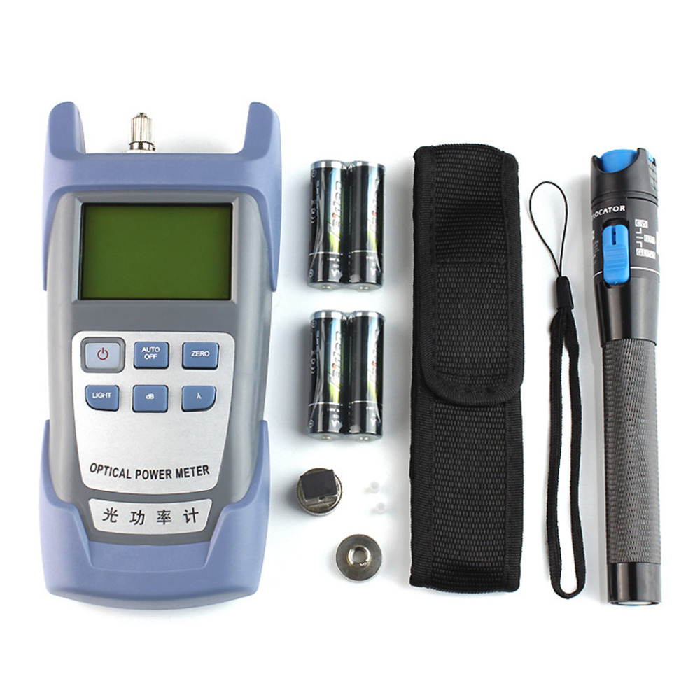 Practical Fiber Optic FTTH Tool Kit with FC-6S Fiber Cleaver and Optical Power Meter 5km Visual Fault Locator Fiber Stripper mt 7601 fiber optic power meter laser fiber optic tester optical fiber power meter automatic identification frequency