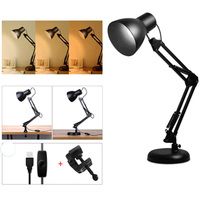 Led Studying Bedside Table Light Adjustable Light Color Flexible Clamp Foldable Arm Eye Protection Iron Reading Lamp
