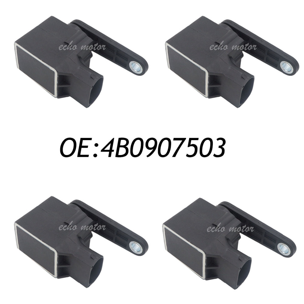 4PCS Headlight Level Control Sensor 4B0907503 For VW Passat 3B 3BG Golf 4 Bora Beetle Audi A3 A4 A6 A8 TT 1994 1995 1996 1997-06 high quality 3c907503 4h0941286g 4h0941285g headlight level sensor for audi c6