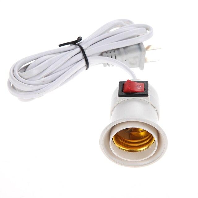 2pcs Flexible E27 Plug In Lamp Holder Multi Direction Light Bulb Socket  Adapter Lamp