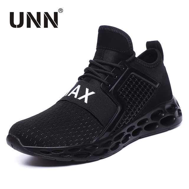 81cc42702479 UNN Super Men Running Shoes BLACK Mesh Comfortable Outdoor Red Men Sneakers  Athletic Shoes Trainers Sport Man Dropshping
