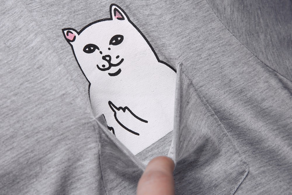 HTB1qQ0uOVXXXXbUaXXXq6xXFXXXo - Cat in Pocket T Shirt Casual T shirt Men T Shirt Women