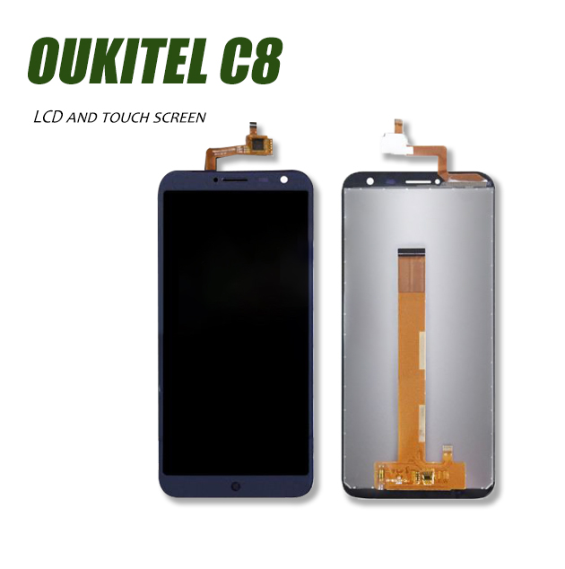 new 100% 5.5inch LCD Display and Touch Screen Digitizer For Oukite C8 Assembly Replacement +tools+free shipping