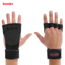 BOODUN Men Women GYM Gloves Weight Lifting Breathable Fitness Sport Grips Gym Palm Protector Bodybuilding Equipment