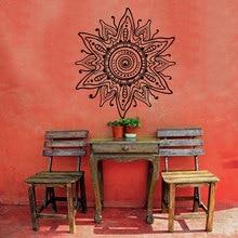 Bohemian Mandala Flower Wall Decal Beautiful Flower Pattern Stickers For Livingroom Vinyl Abstract Wall Sticker Art Mural SYY598 цены