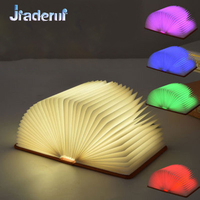 Jiaderui Nevolty LED Night Light Chritmas New Year Gifts Colorful USB Recharge Foldable LED Book Shape