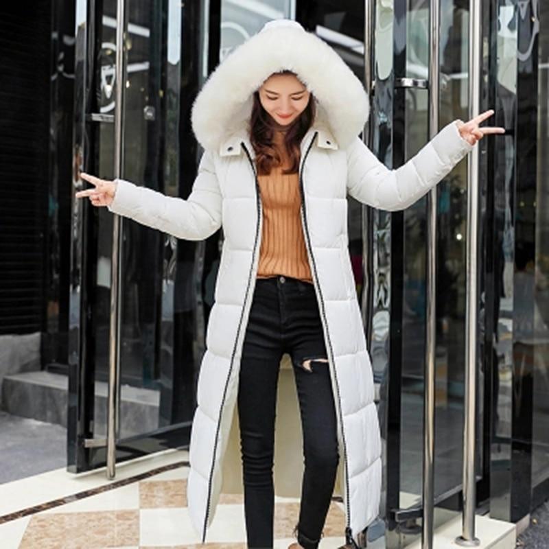 Coton Femmes Veste Longue F766 Épais Femelle Grand Noir 2018 De Dame Fourrure Le La Taille Manteau Parka Vers Plus Capuchon Mince Avec rose Hiver Rembourré Bas rouge ivoire dIxwqvgvt