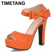 New summer Peep Toe Cheville sangle orange Doux Épais à talons hauts Sandales Plate-Forme Lady femmes chaussures