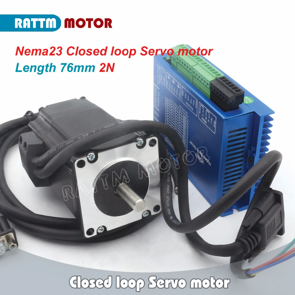 EU Ship Free VAT! Nema23 2N.m Closed Loop Easy Servo motor 4.2A L 76mm & 2HSS57 Hybrid Step-servo Driver CNC Controller 6A nema23 3phase closed loop motor hybrid servo drive hbs507 leadshine 18 50vdc new original