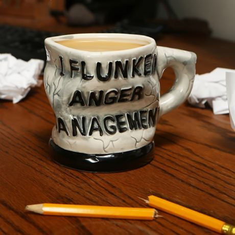 """I Flunked Anger Management"" Mug"