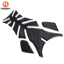 цена на POSSBAY Motorcycle Styling Carbon Fiber Sticker Protector Gas Fuel Oil Tank Cover Pad Sticker Decal fit for Kawasaki Motorbike