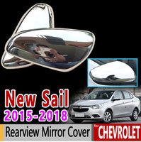 for Chevrolet New Sail Luxury Chrome Rearview Mirror Cover 2015 2016 2017 2018 Sail 3 Accessories Car Styling Stickers