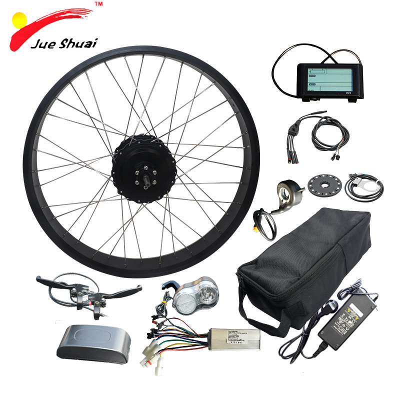 48V 1000W Electric Bike Kit with 48V16AH 20AH LG26A Battery Fat Tire 20 quot 26 quot 4 0 Rear Motor Wheel Electric Complete Ebike Kit in Electric Bicycle from Sports amp Entertainment