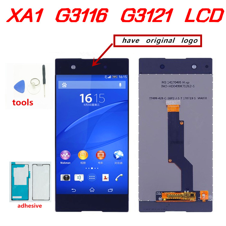 5.0 inch Touch Screen For <font><b>SONY</b></font> Xperia XA1 XA 1 G3116 G3121 G3123 G3125 <font><b>G3112</b></font> <font><b>LCD</b></font> Display Digitizer Assembly Frame With Free Tool image