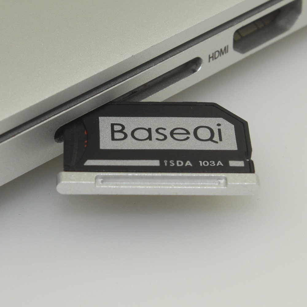 103A Original BASEQI aluminio MiniDrive Micro SD tarjeta adaptador lector de tarjetas para Macbook Air 13''