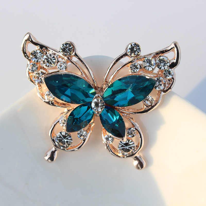 TODOX broche nouvelle mode beauté femmes or en alliage de Zinc cristal exquis fleur papillon insectes broches offre spéciale cadeau de fête homme