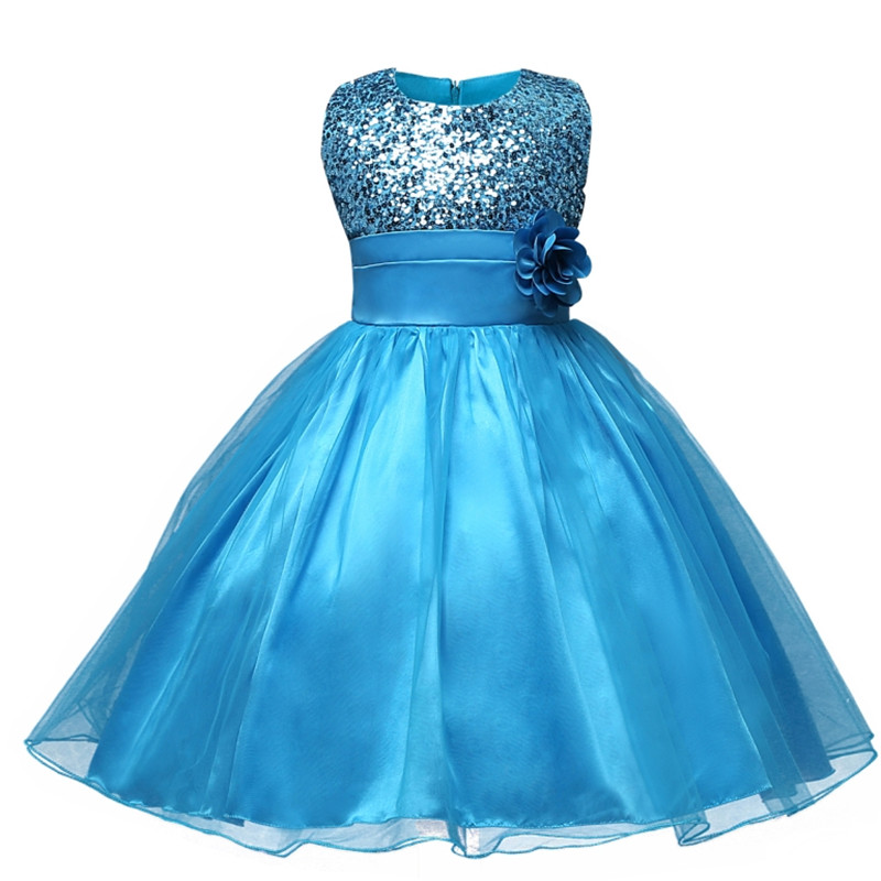 2017 Summer Hot Selling Baby Girls Flower Sequins Dress High Quality Party Princess Dresses Children Kids Tulle Evening Clothes hot sale floral dresses summer baby rose flower pattern dress kids children party dresses girls vestidos 2016 new princess girls