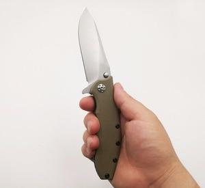 Image 3 - JSSQ cuchillo plegable con rodamiento de bolas, hoja ELMAX, Flipper, Navajas de bolsillo táctico, caza, supervivencia, EDC, herramientas al aire libre, OEM