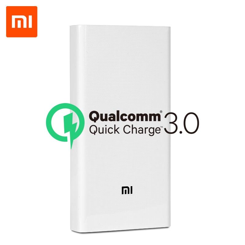 Xiaomi Power Bank 20000 мАч 2C Поставки из России QC3.0 внешний аккумулятор с двойным USB выходом