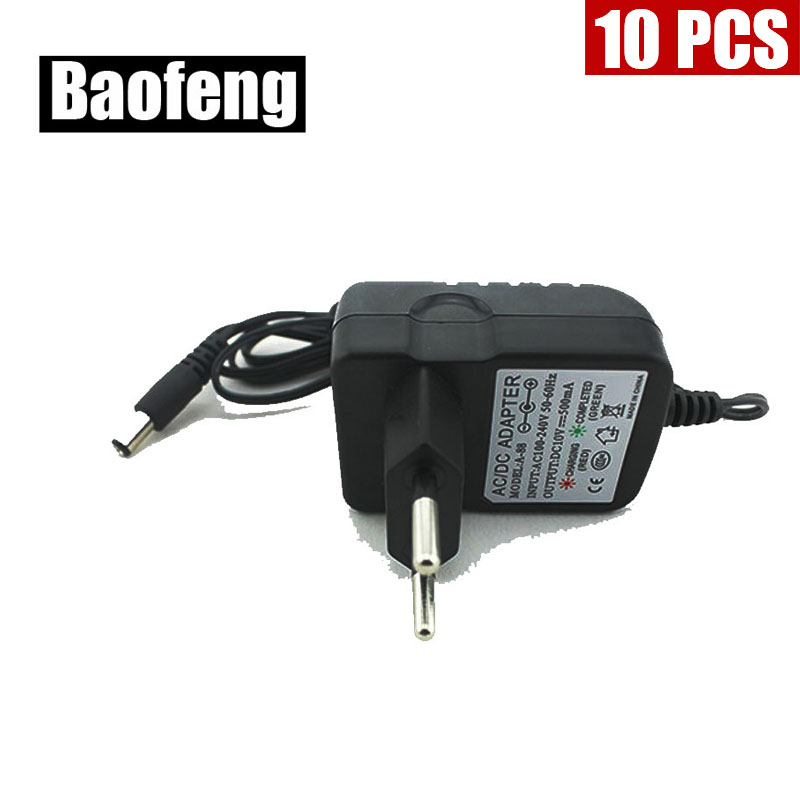 10PCS  New Original Charger Fit For BAOFENG UV-B5 B6 5R Two Way Radio With Free Shipping (round Plug)