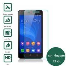 For Huawei Ascend Y3 Y3C Tempered Glass Display Protector 2.5 9h security Protecting Movie on Y336 Y360 Y three 3C 336 360 Y336-U02