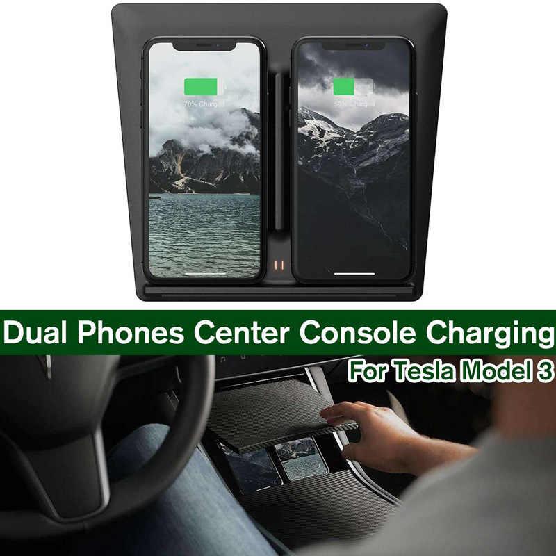 Cargador inalámbrico para coche 10W almohadilla de carga rápida para teléfono móvil accesorios de coche TD326