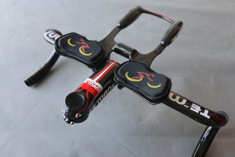 New TEMANI FUL Carbon Bicycle Handlebar Road Bike Handle Bar Cycling Racing Handlebar Bicycle Parts 28.6*400/420/440mm