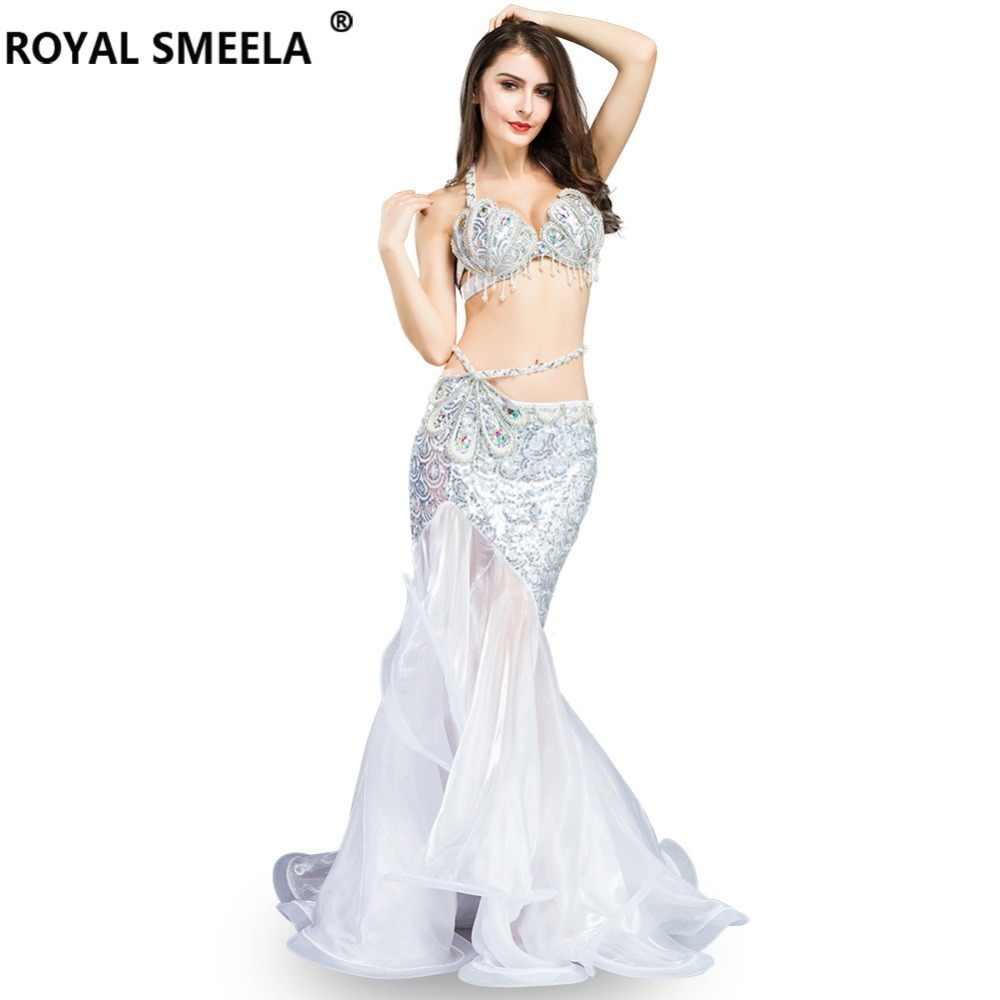 Горячая Распродажа профессиональный костюм для танца живота для индийского представления наряды Болливуд танцор танец живота костюм с блестками WQ8808