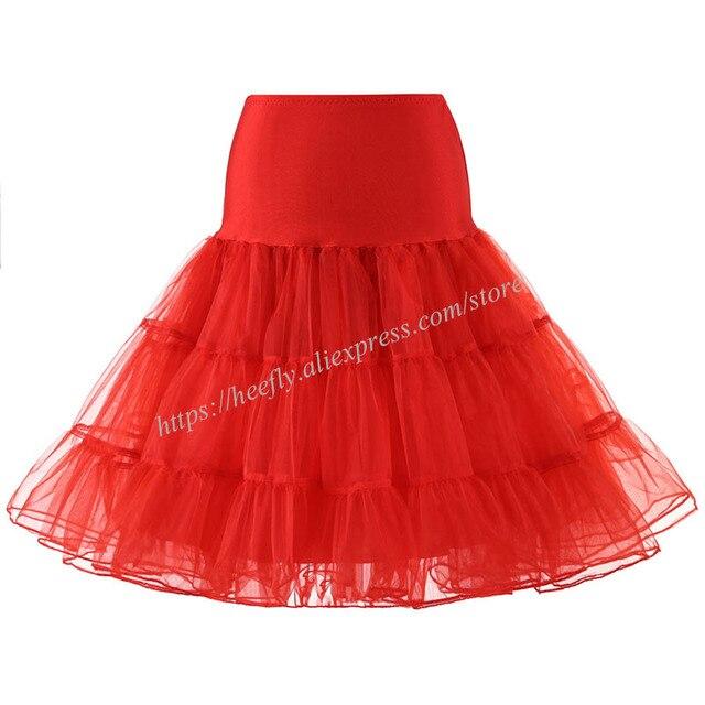 Tulle Skirts Womens Fashion High Waist Pleated Tutu Skirt Retro Vintage Petticoat Crinoline Underskirt Faldas Women Skirt saia 4
