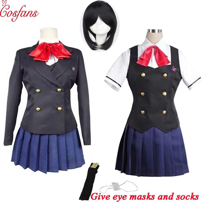 8PCS Another Misaki Mei Akazawa Izumi Costume Anime Cosplay Women Girls Japanese School Uniform Skirt Costume And Wig Halloween