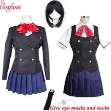 Disfraz de Akazawa de otro Misaki Mei, cosplay de anime de Izumi para mujeres y niñas, Japonesa uniforme de Escuela, falda, disfraz y peluca para Halloween, 8 Uds.