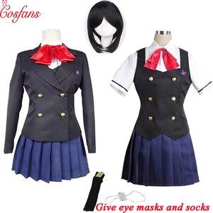 Image 1 - Disfraz de Akazawa de otro Misaki Mei, cosplay de anime de Izumi para mujeres y niñas, Japonesa uniforme de Escuela, falda, disfraz y peluca para Halloween, 8 Uds.
