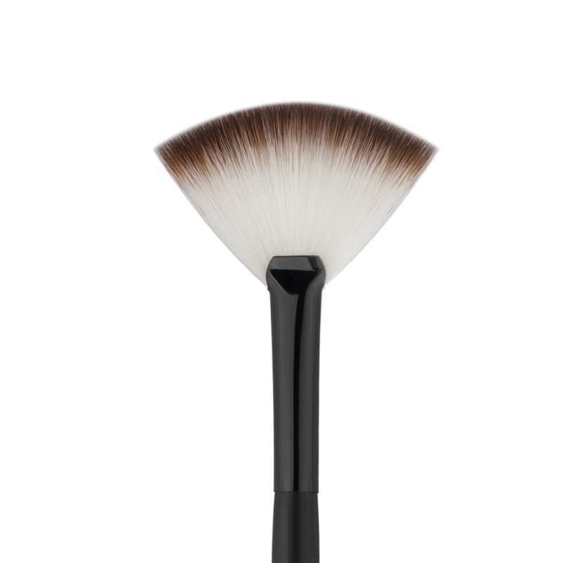 1pc Makeup Soft Fan Brush Blush Powder Professional Single Sector Make up Brushes Foundation Beauty Tool Black