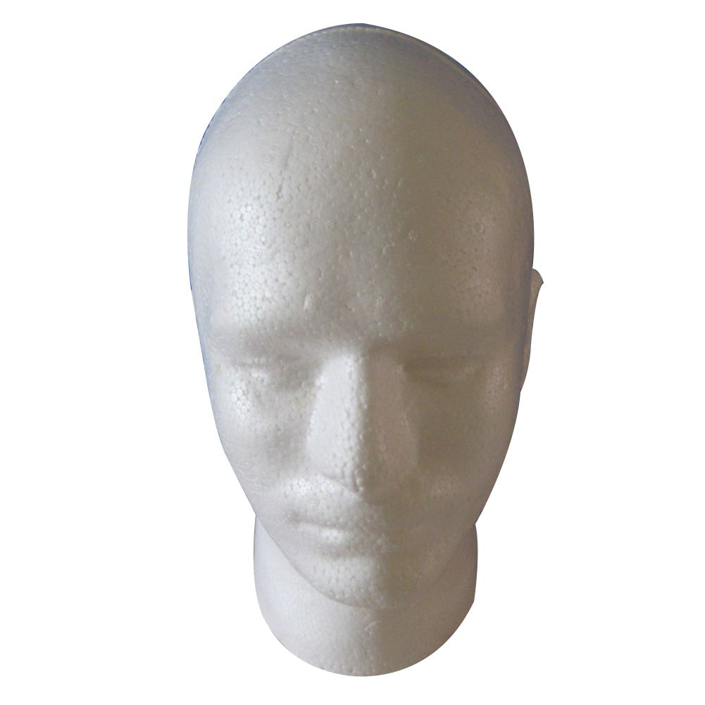 HOT Male Wig Display cosmetology Mannequin Head Stand Model Foam White mannequin