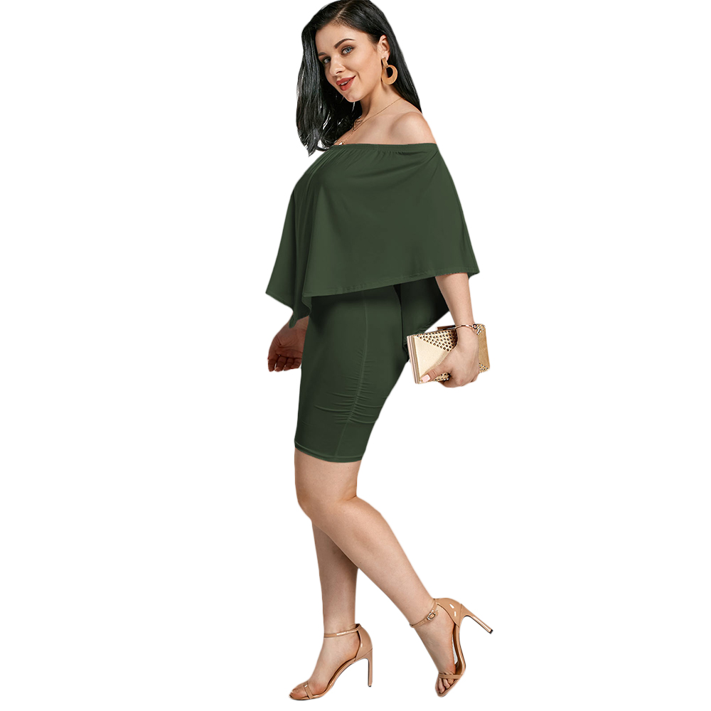 11c61ad44f The Poncho Popover Bodycon Dress features poncho sleeve, elastic off  shoulder and short length -Poncho design can cover part of your arms, ...