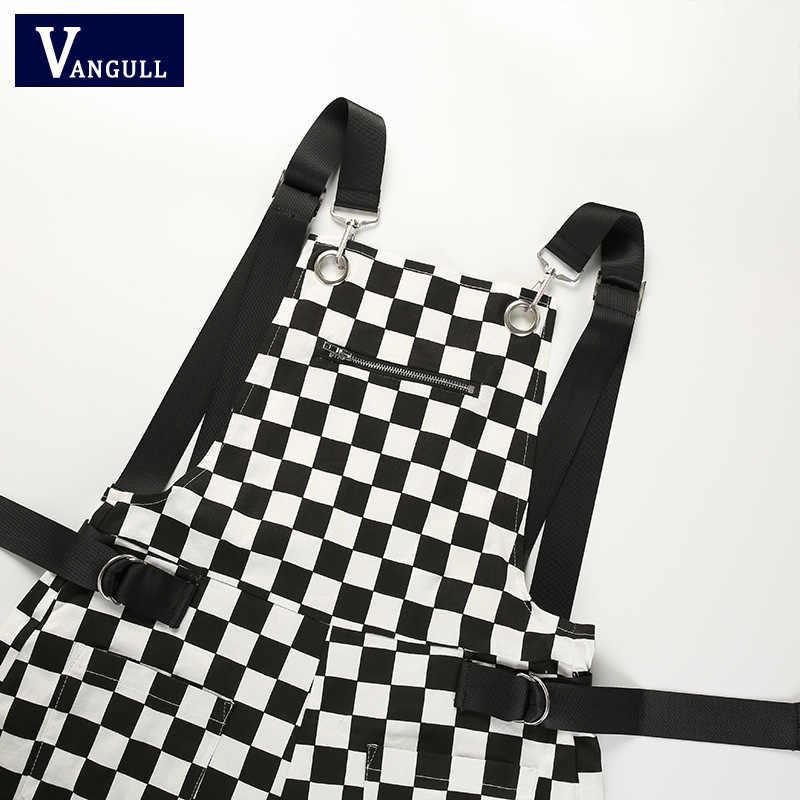 Vangull Для женщин комбинезон комбинезоны сарафан шорты 2019 Новый Модный летний костюм женский черный, белый цвет, в клетку, костюм для подвижных игр