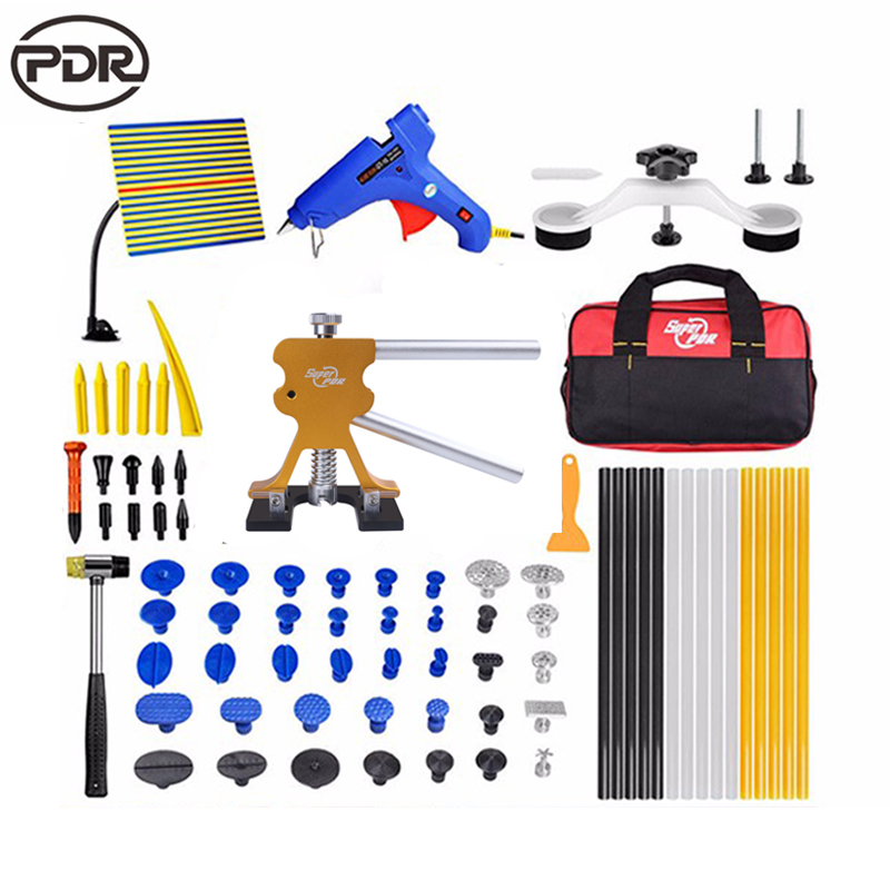 PDR Tools DIY Car Dent Repair Tools Car Body Repair Kit Tool To Remove Dent New Design Dent Lifter Pulling Bridge Aluminum Tabs недорого