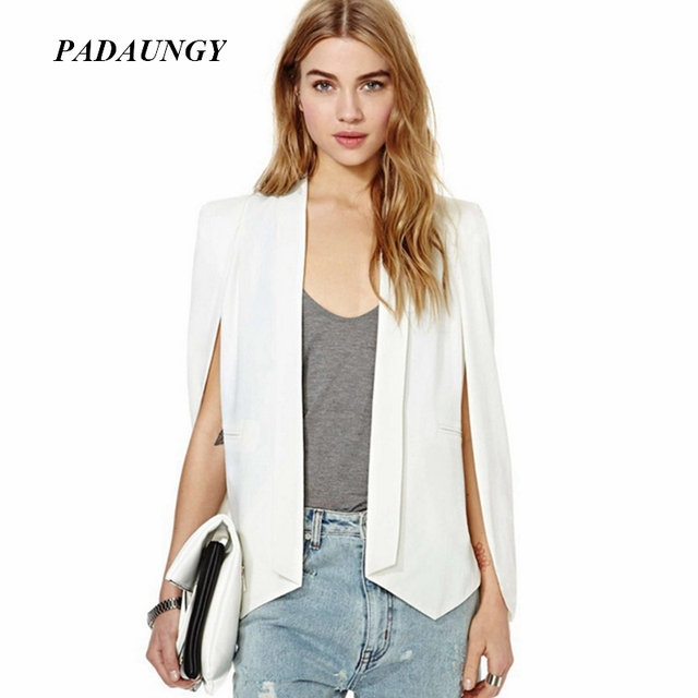 PADAUNGY New Women Vest Sleeveless Coats Office Lady Outwear White Jackets Blazer Plus Size Colete Feminino Suit Vests Casaco