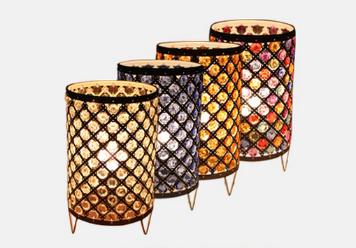 ФОТО The Mediterranean Colourful Crystal Romantic Table Light Desk Lamp Cafe Bedroom Bedside Home Decor Club Store Restaurant