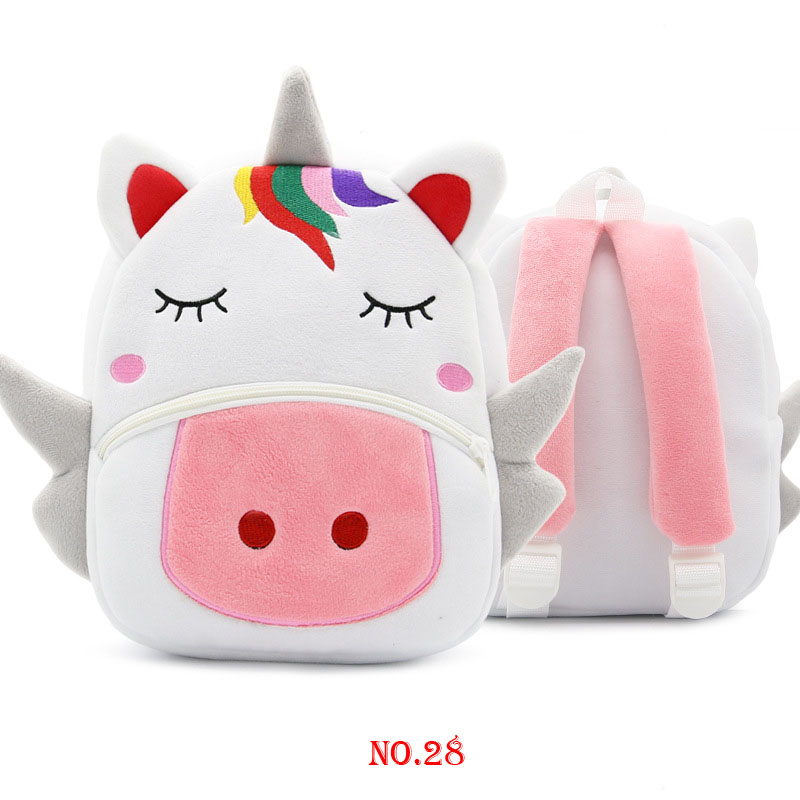 Mini Kindergarten 1 3 Year Old Toddler Book Cartoon Kid Plush Unicorn Backpack Plush Animal Children SchoolBag Girl Boy Backpack in Backpacks from Luggage Bags
