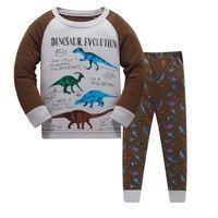 100 Cotton Boys Santa Claus Christmas Pajamas Children S Sleepwear Baby Dinosaur Night Wears Kids Pyjamas