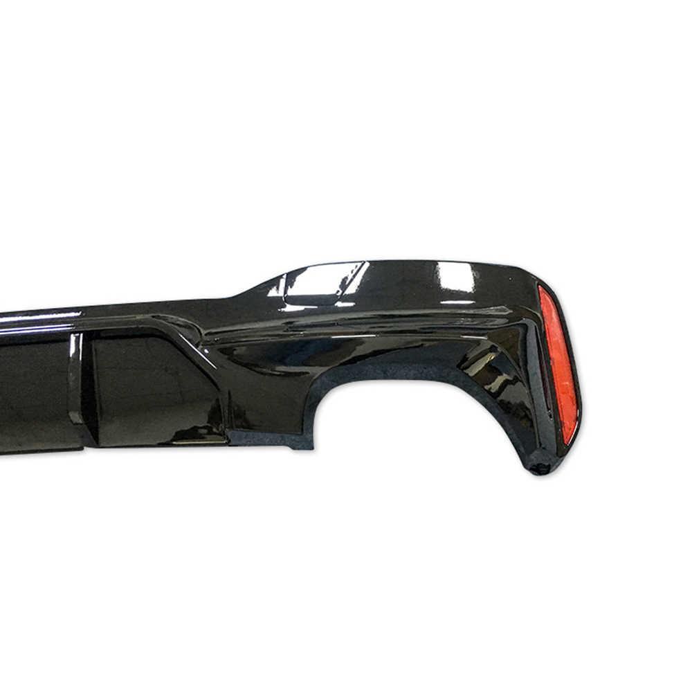 MP スタイルリアルカーボンファイバーリアバンパーリッププロテクター 1 ペア bmw G30 G31 G32 5 シリーズ m スポーツ 2017up