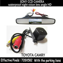 parking System for Toyota camry2008 HD SONY CCD Car Rear View Camera+4.3 inch Car rear Mirror Monitor LCD in rearview car camera