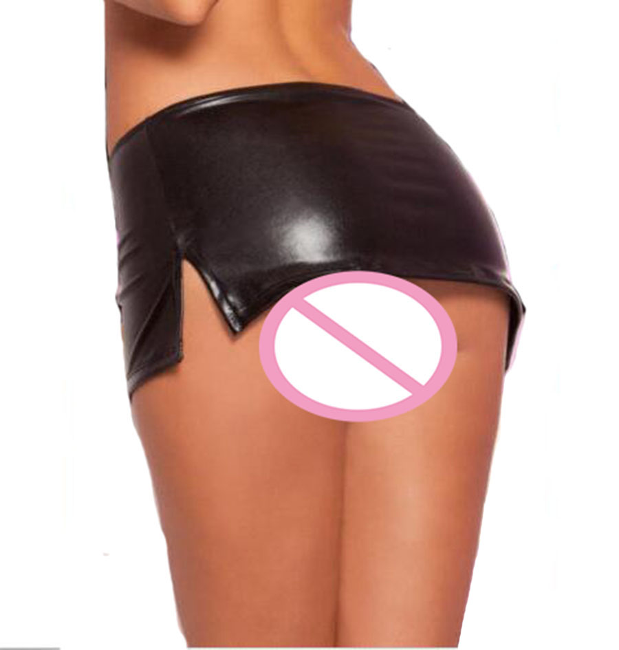 Women Lingerie Wetlook Latex Leather Shiny Mini Skirt ,Extra Short Dress Party Clubwear,Sex Toys For Woman