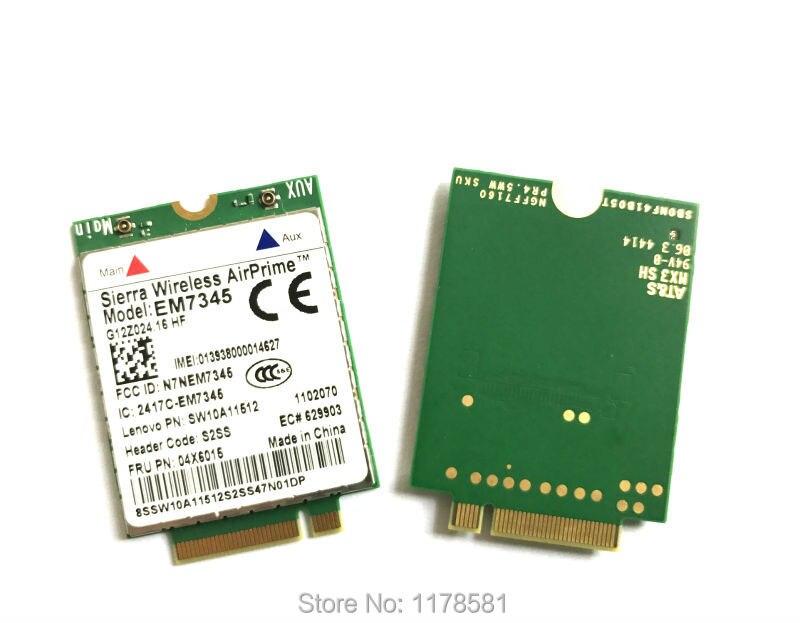 Купить с кэшбэком GOBI5000 EM7345 LTE FRU 04X6015 ThinkPad 10 ThinkPad 8 WWAN HSPA+ 42Mbps 4G Module NGFF