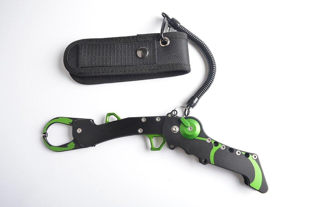 New Aluminium Fishing Lip Grip Fishing Gripper Fishing Tackle Tool Three Colors Available Single Handle Use