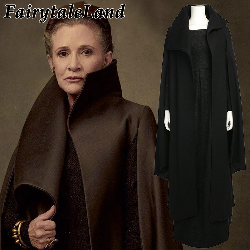 Star Wars Princess Leia Cosplay costume Custom made Carnival Halloween Costumes Cosplay Leia black dress the