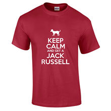 Keep Calm And Get A Jack Russell Dog Lover Owner Pet Gift Funny T-Shirt S-3XL New T Shirts Funny Tops Tee New Unisex Funny Tops ppk30 cq owner gde t happy healt pet