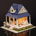 A060 Doll House Diy miniature 3D Wooden Puzzle Dollhouse miniaturas Furniture House Doll Single angel Valentine's Day gift