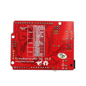 Image 5 - Placa do microcontrolador de elecrow crowduino uno sd v1.5 para arduino uno atmega328p com mini cabo usb sd microcontrolador